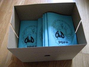 La caja con mis fanzines impresos