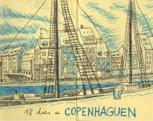 Diario de viaje. Moleskine de Copenhague