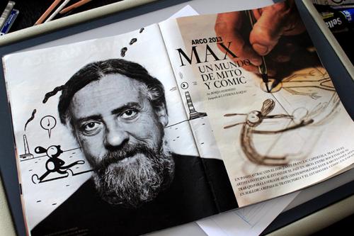 Cómic en El País. Max en Arco