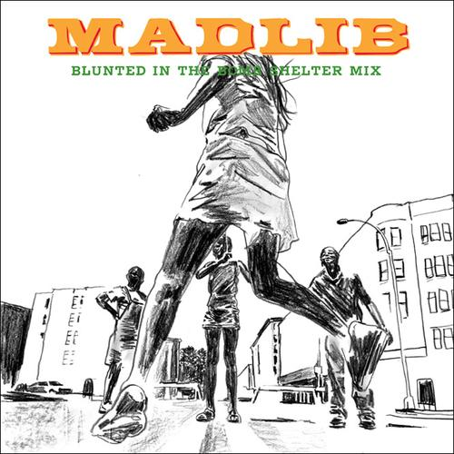 Cover Madlib Blunted in the Bomb Shelter by Jeff Jank