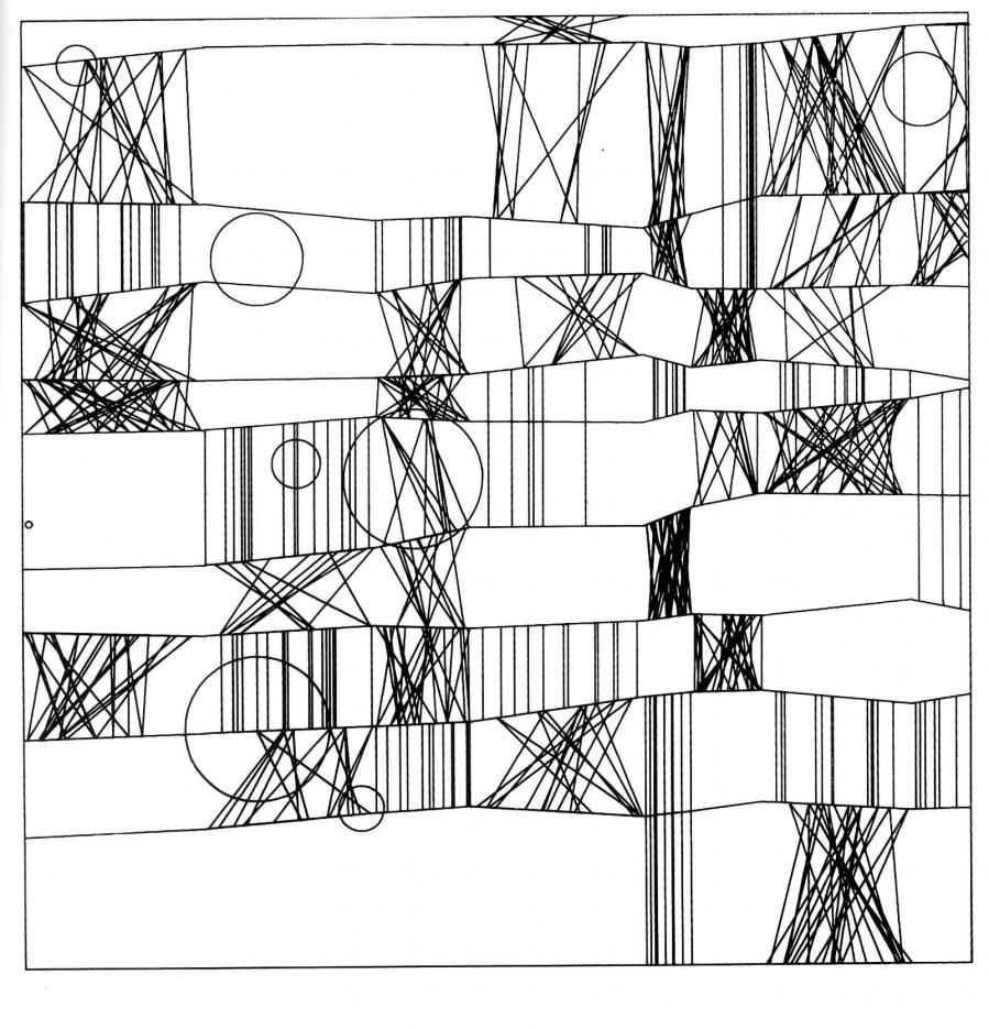 """Frieder Nake 13/9/65 Nr. 2 (""""Hommage à Paul Klee"""")"""